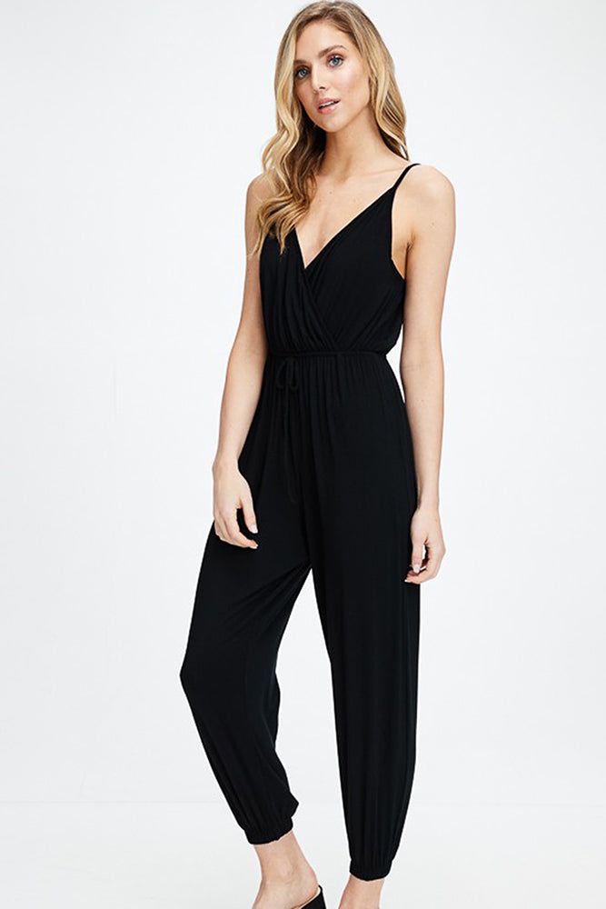 Cami Strap V-Neck Jumpsuit - Online Clothing Boutique