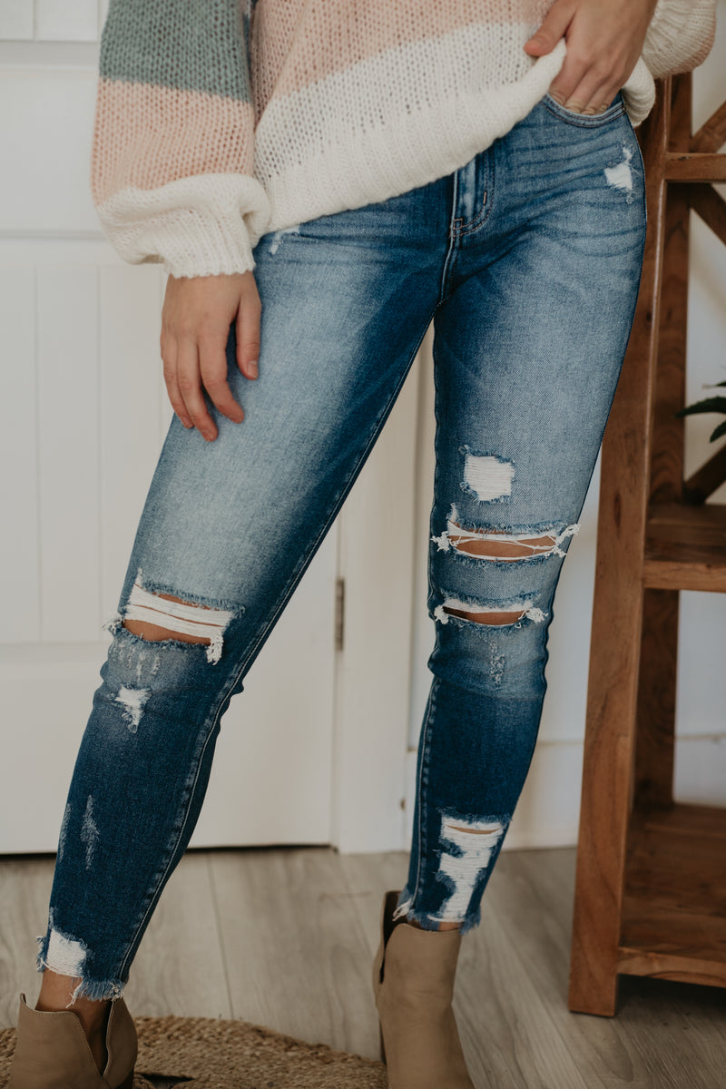 Distressed Ankle Denim | Stylish & Affordable | UOI Online