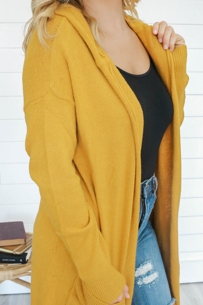 Hooded Cardigan - Online Clothing Boutique