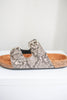 Snakeskin Birkenstock Sandals - Online Clothing Boutique