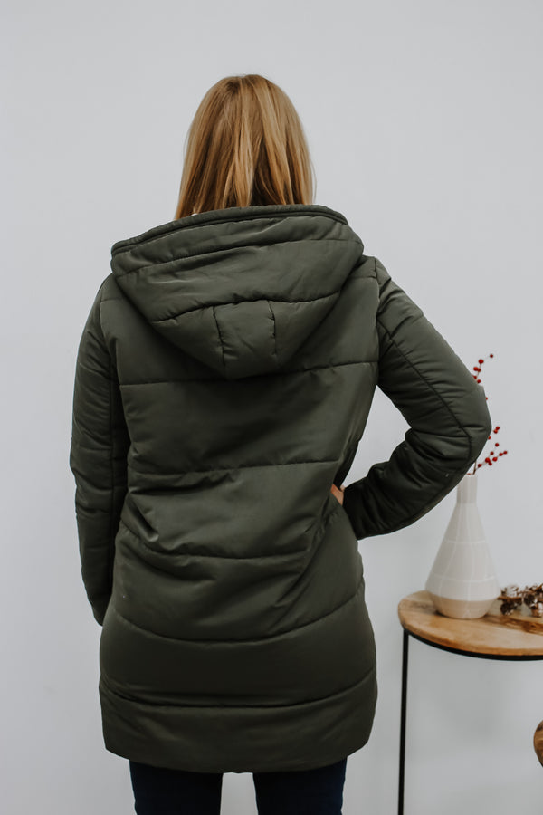 Dress Forum Hooded Puffer Coat | Stylish & Affordable | UOI Online