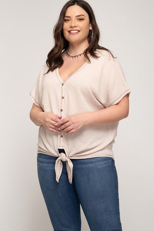 Plus Size Thermal Top - Online Clothing Boutique