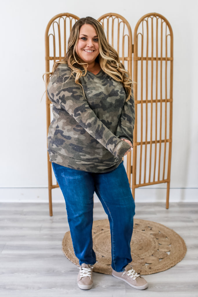 Plus Size Camo Top | Stylish & Affordable | UOI Online