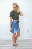 Cropped Button Front Top - Online Clothing Boutique