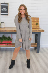 Long Sleeve Knit Dress | Stylish & Affordable | UOI Online