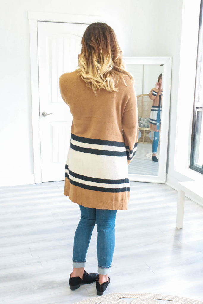 Striped Cardigan - Online Clothing Boutique