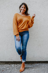 Long Dolman Sleeve Knit Top | Stylish & Affordable | UOI Online