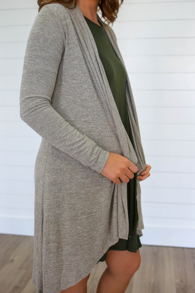 Neutral Soft Knit Cardigan - Online Clothing Boutique
