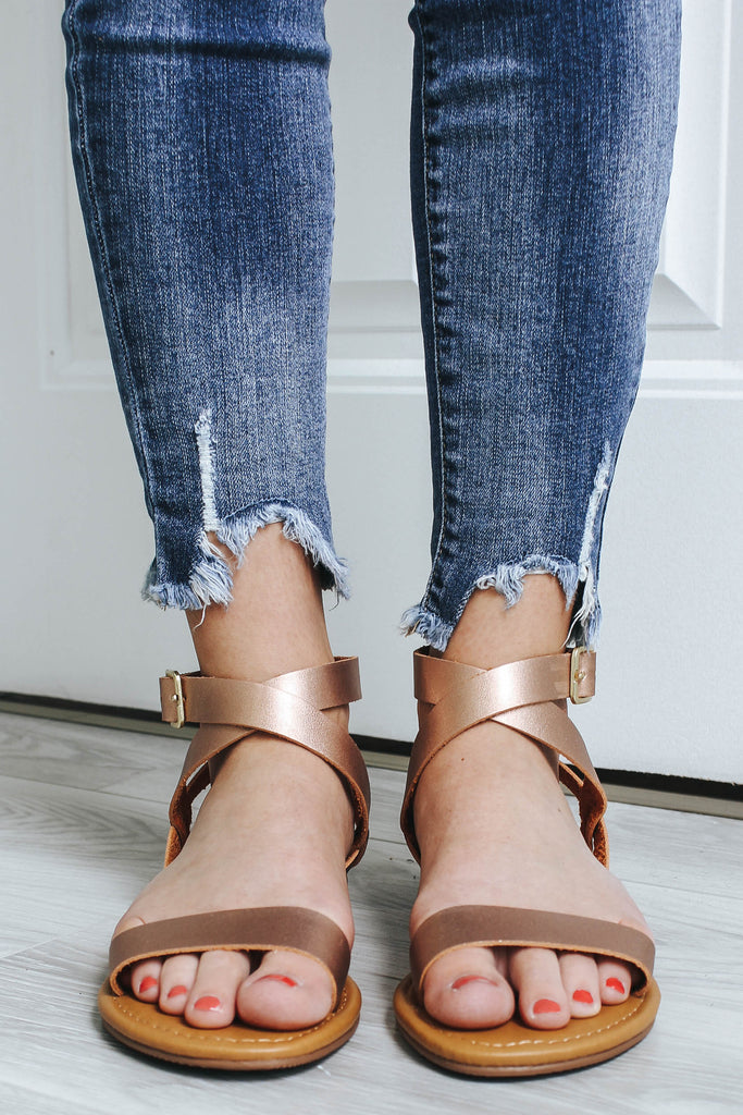 RADIANT-S Flat Sandals - Online Clothing Boutique