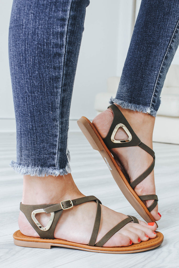VALINE-S Criss-Cross Sandals - Online Clothing Boutique