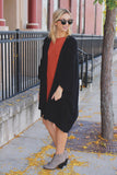Oversized Open Front Short Sleeve Knit Cardigan