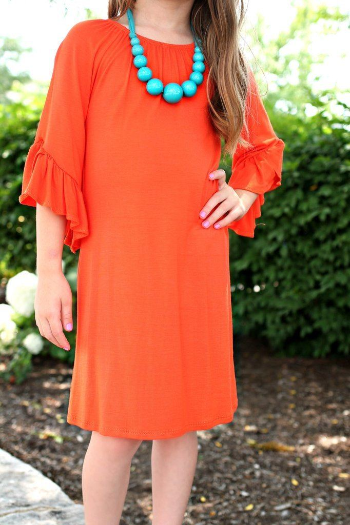 Summer Orange Kids Tunic
