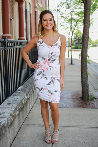 Floral Lane Midi Dress - Navy