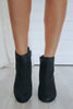 Camera-S Faux Suede Ankle Booties - Online Clothing Boutique