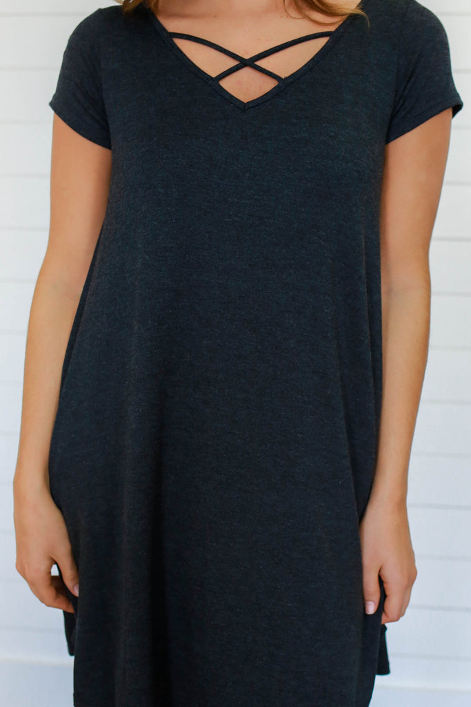 T Shirt Swing Dress - Online Clothing Boutique