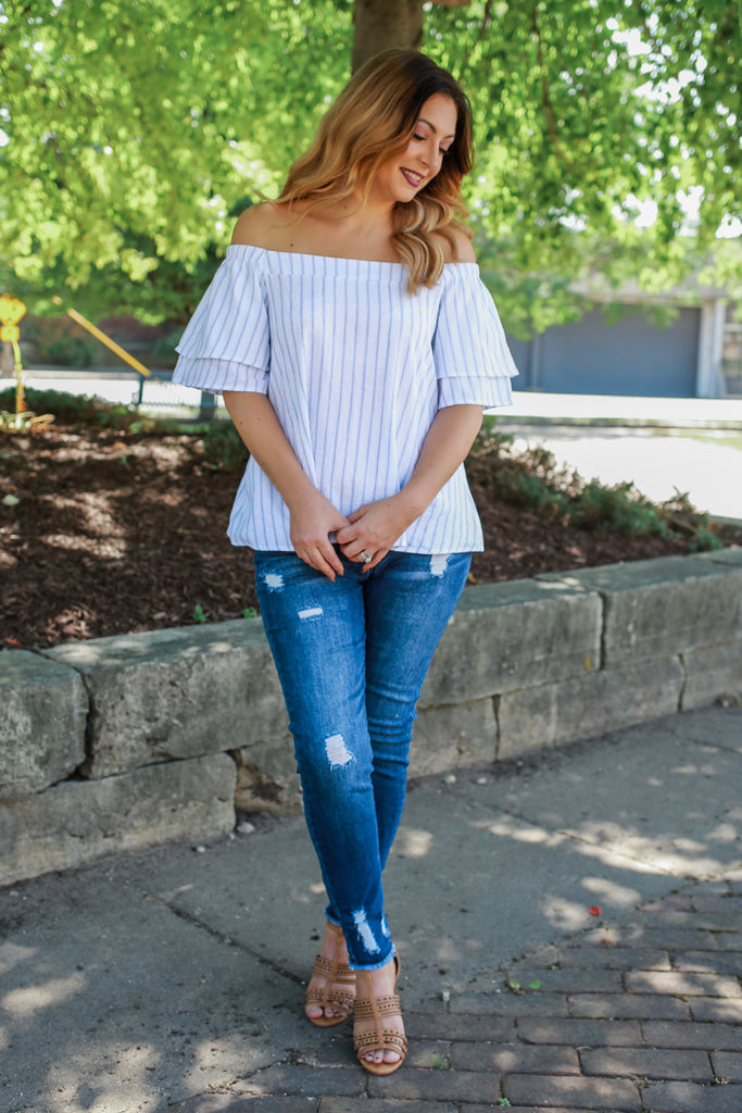 Fall Striped Top - Online Clothing Boutique