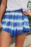High Elastic Waist Tie Dye Flowy Unlined Shorts