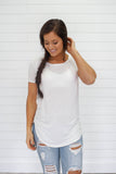 Basic White Short Sleeve Tee - Online Clothing Boutique