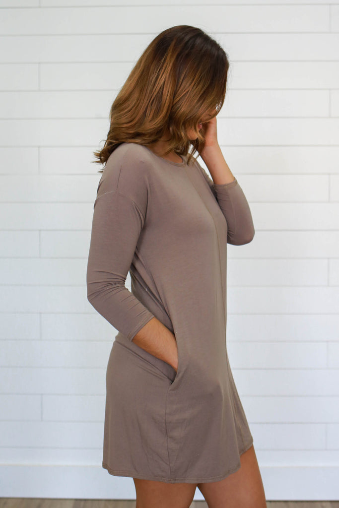 3/4 Sleeve Dress - Online Clothing Boutique