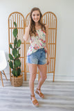 Floral Print Tank Top - Online Clothing Boutique