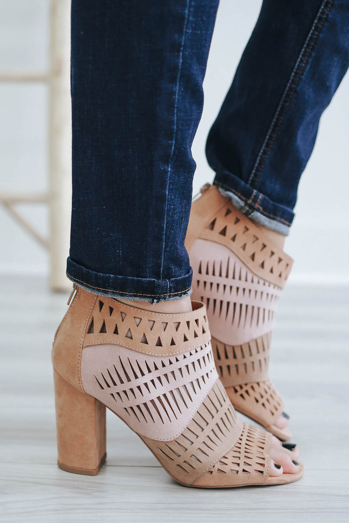 Chester-50 Cutout Heels - Online Clothing Boutique
