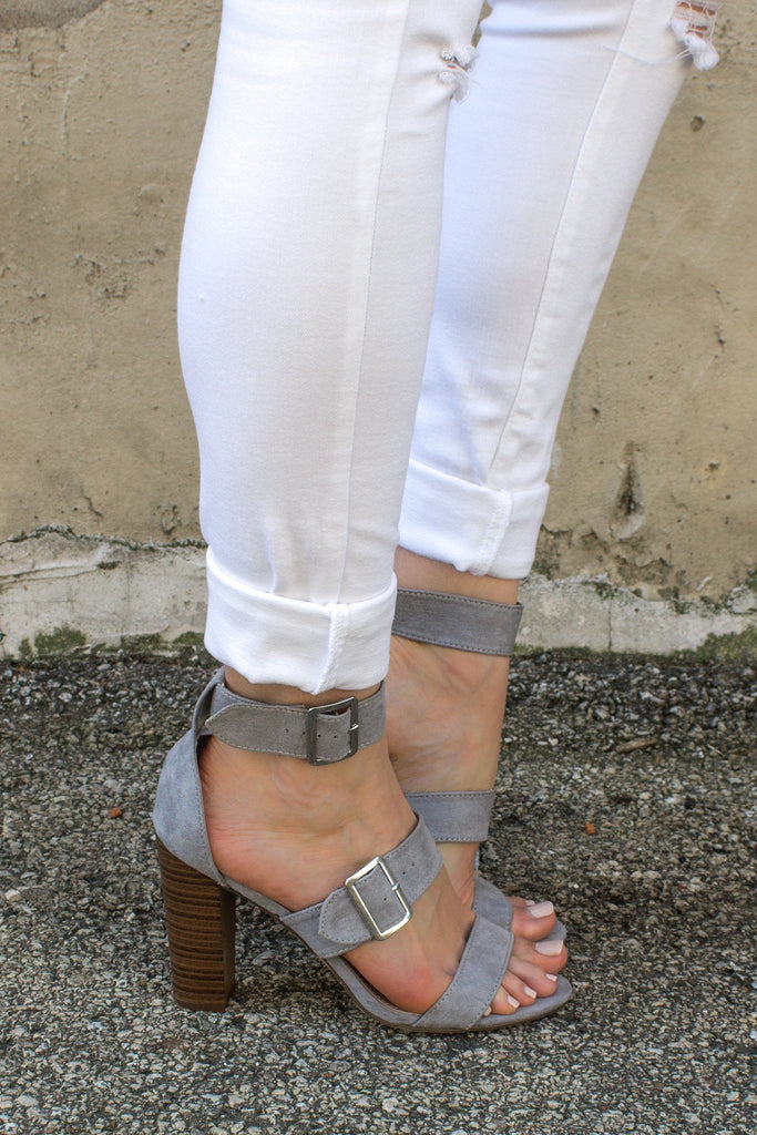 Strappy Open Toe Buckle Accent Heels morgan-21