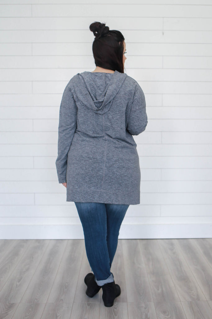 Hooded Plus Size Top - Online Clothing Boutique