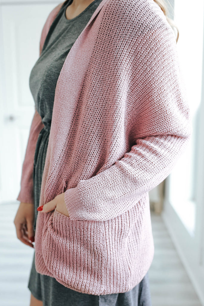 Ribbed Knit Cardigan - Online Clothing Boutique