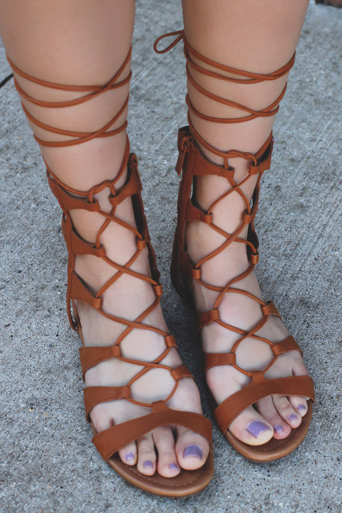 Whiskey Lace Up Caged Ankle Sandal Ruby-63