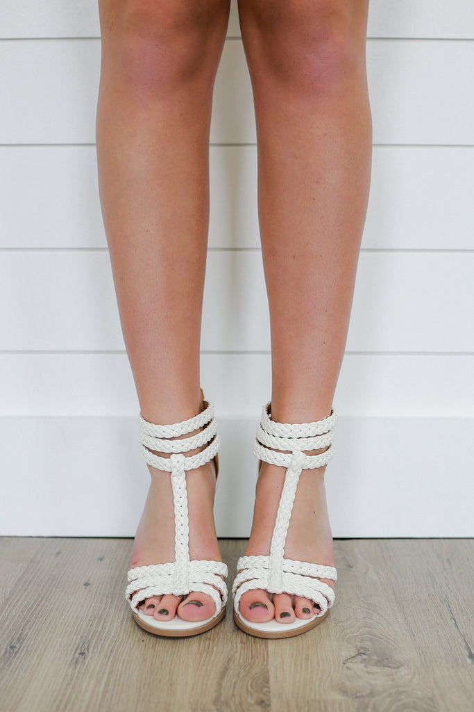 White Strappy Heel - Online Clothing Boutique