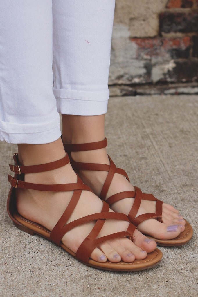Whiskey Double Ankle Strap Flat Sandals ruby-65