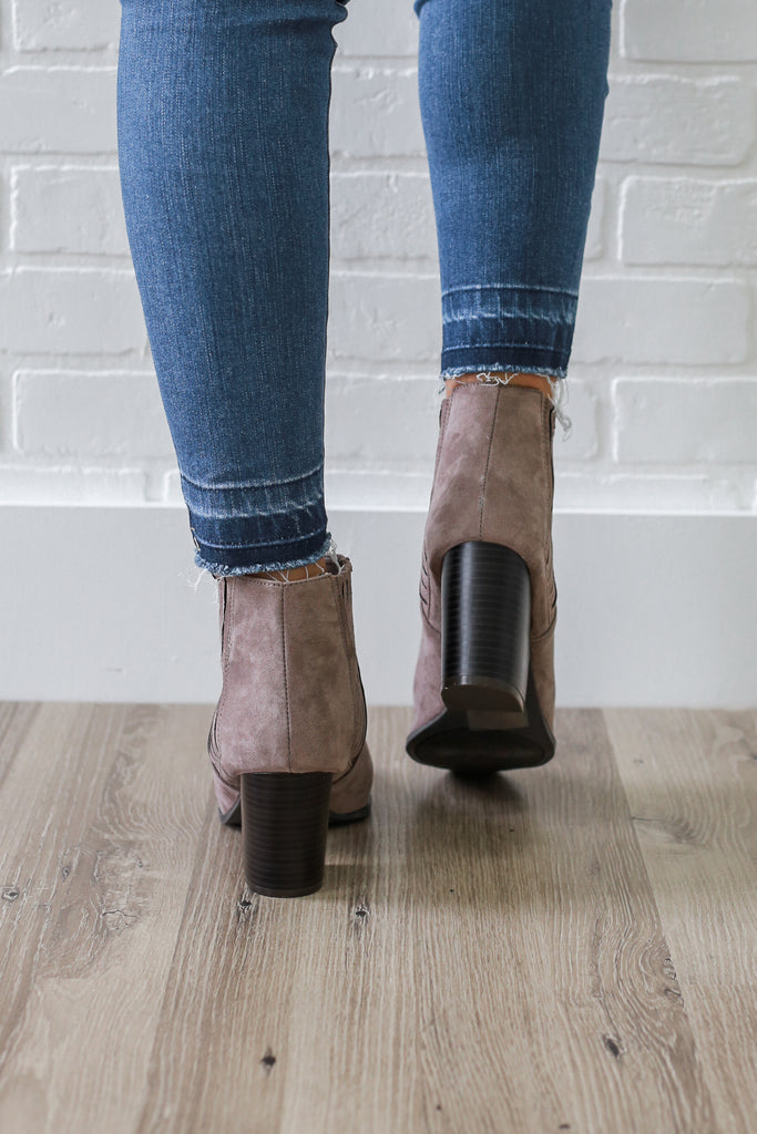 Prenton-18 Faux Suede Ankle Booties - Online Clothing Boutique