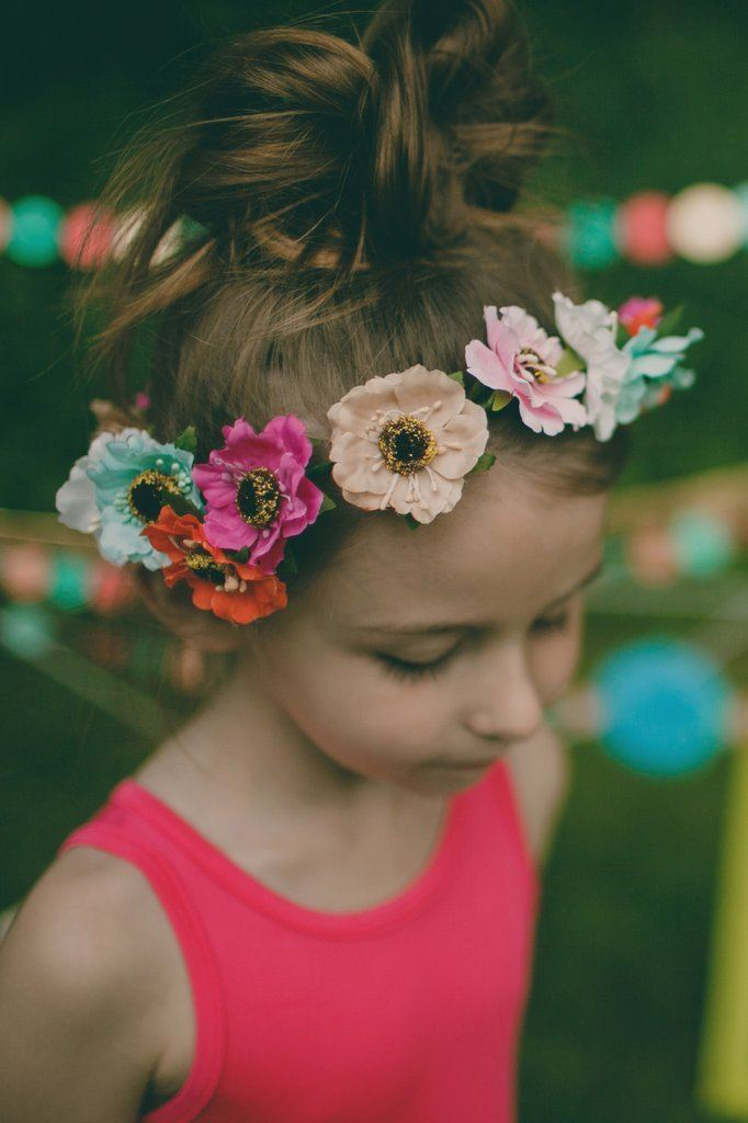 Multicolor Flower Crown Headband