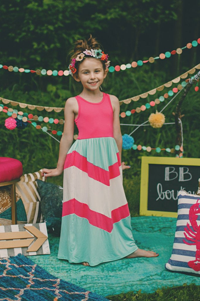 Kids Chevron Maxi Dress