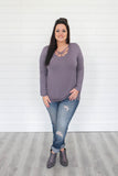 Strappy Neckline Plus Size Top - Online Clothing Boutique