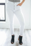 High Rise White Denim - Online Clothing Boutique