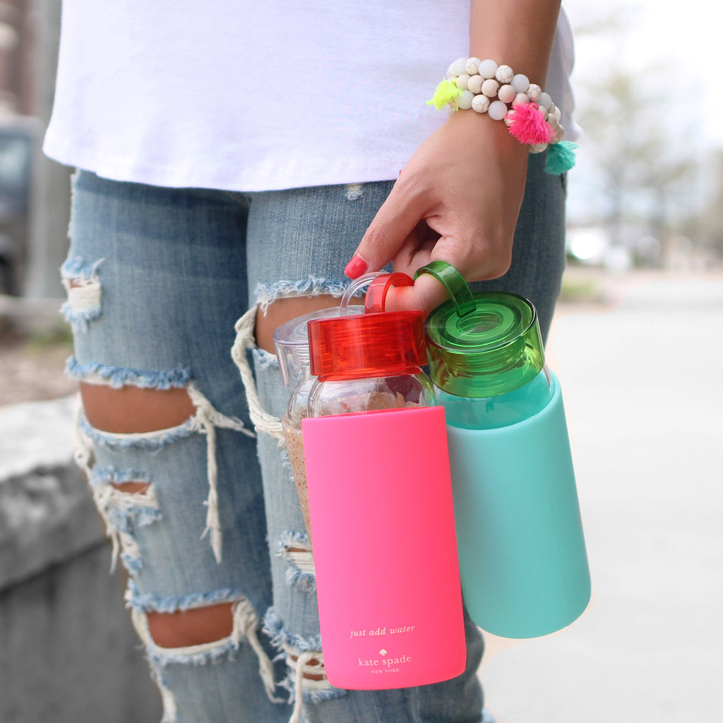 Kate Spade Colorblock Turquoise Water Bottle