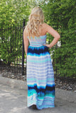 Strapless Tassel Tie Partially Lined Maxi Dress