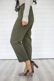 Olive Green Pants - Online Clothing Boutique