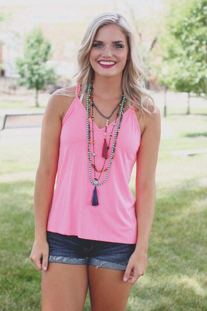 Simply Perfect Tank - Neon Pink