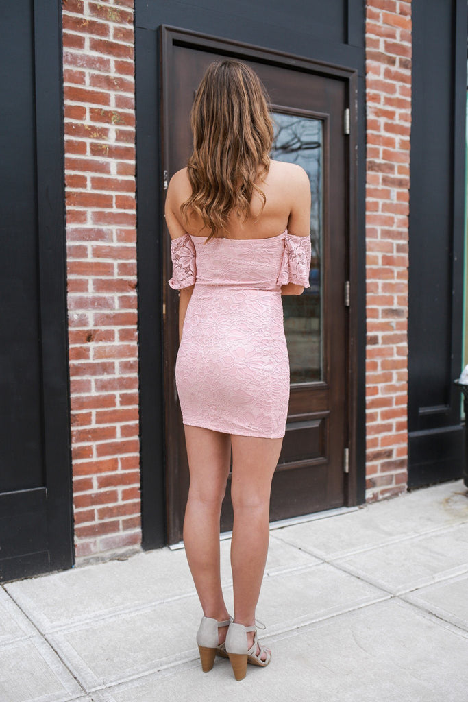 Sweetheart Neckline Off The Shoulder Lace Bodycon Dress