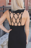 Sleeveless Round Neck Strappy Back Detail Maxi Dress