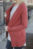 Perfect Basic Rust Cardigan