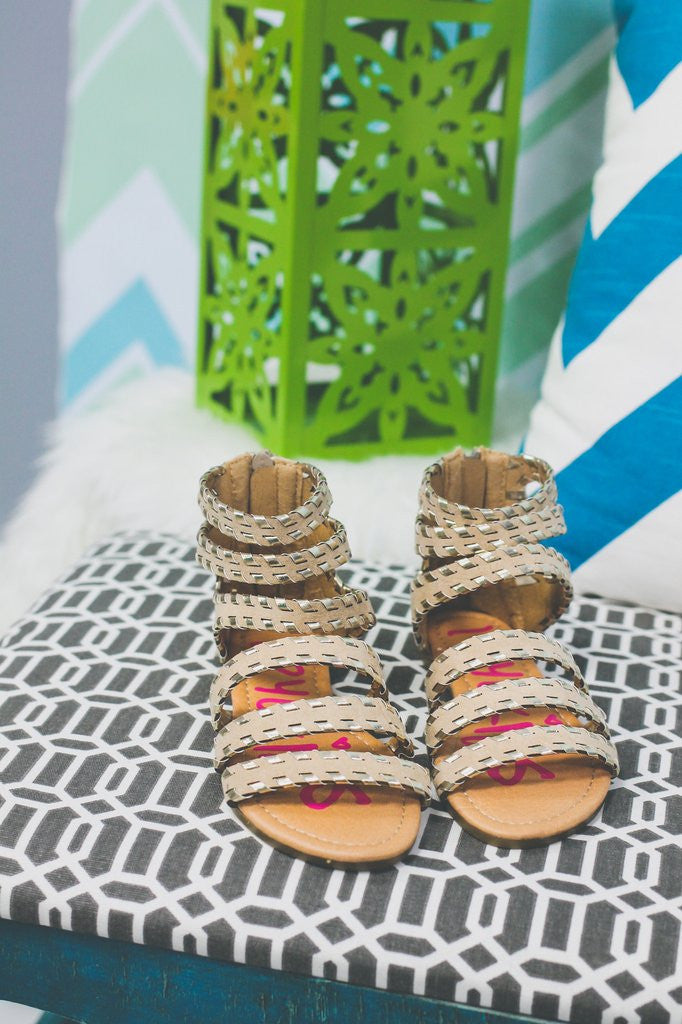 Kids Metallic Gladiator Sandals KI-SHAYLA-K