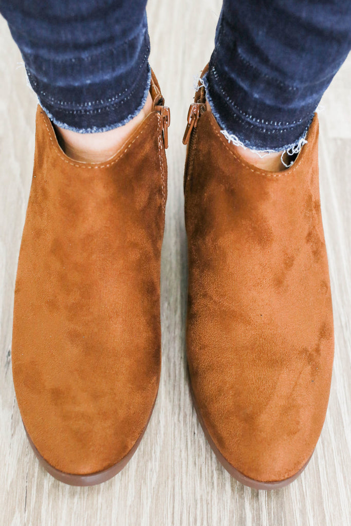 Mug-S Faux Suede Ankle Booties - Online Clothing Boutique