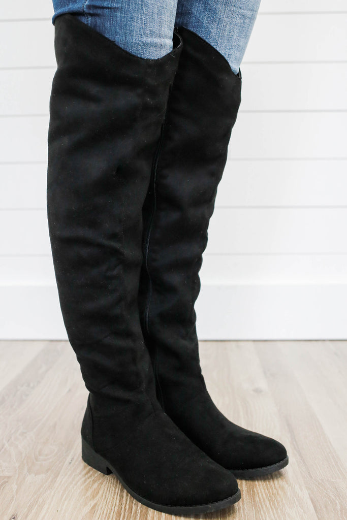 Plateau-183BX Over The Knee Boots - Online Clothing Boutique