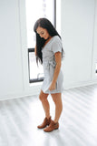 Self Tie T-Shirt Dress - Online Clothing Boutique
