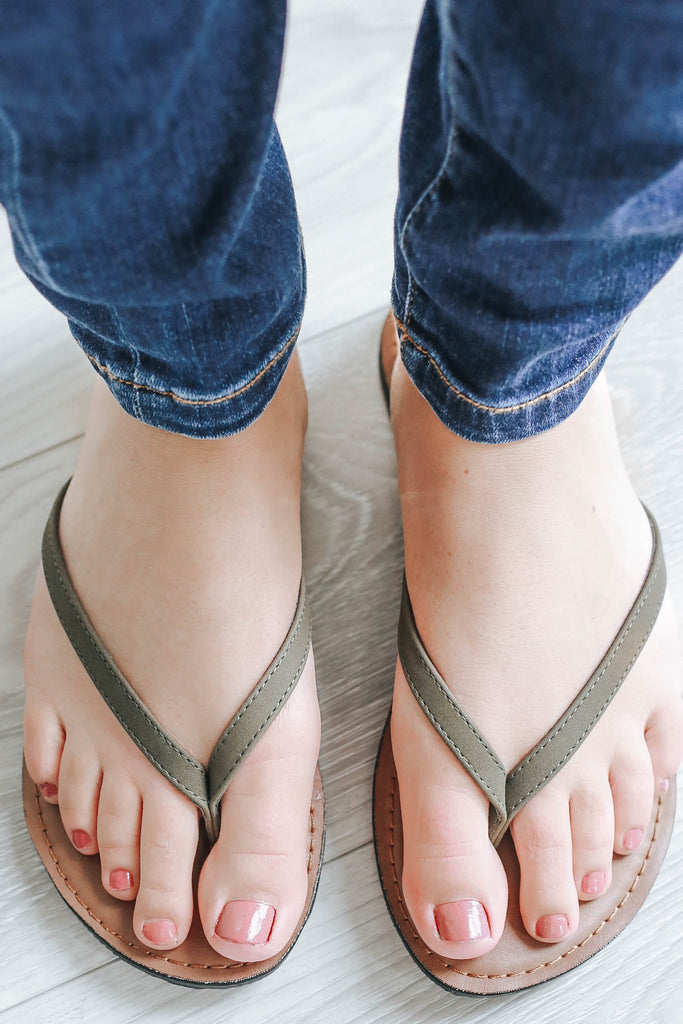 Day Or Night Sandals - Olive-2033