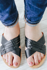 Archer-376 Criss-Cross Sandals - Online Clothing Boutique