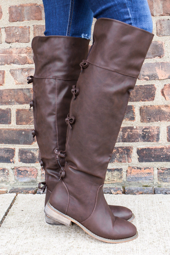 Almond Toe Bow Detail Riding Boot DANNY-27